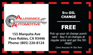 5th Oil Change Free